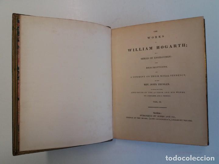 Libros antiguos: 2 FABULOSOS LIBROS LOS TRABAJOS DE WILLIAM HOGARTH MARAVILLOSA ENCUADERNACION GRABADOS 190 AÑOS - Foto 12 - 230632690