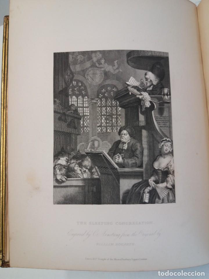 Libros antiguos: 2 FABULOSOS LIBROS LOS TRABAJOS DE WILLIAM HOGARTH MARAVILLOSA ENCUADERNACION GRABADOS 190 AÑOS - Foto 26 - 230632690