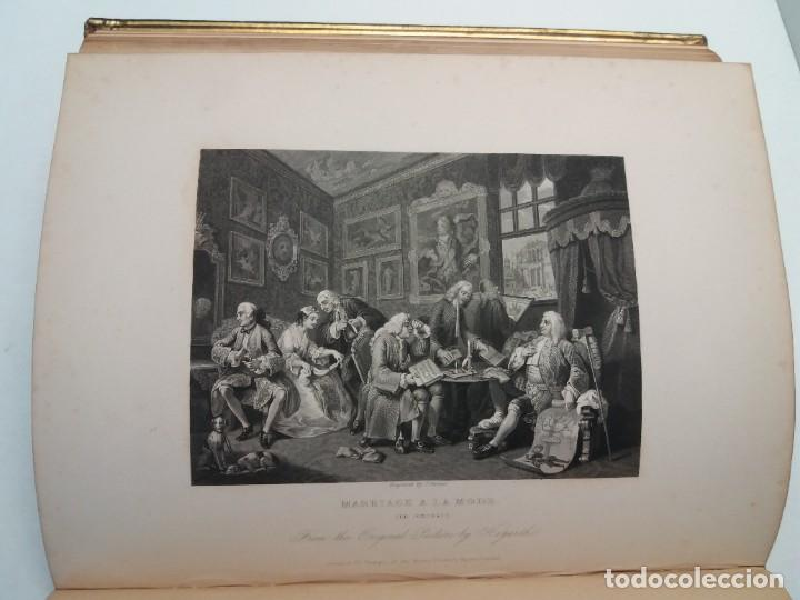 Libros antiguos: 2 FABULOSOS LIBROS LOS TRABAJOS DE WILLIAM HOGARTH MARAVILLOSA ENCUADERNACION GRABADOS 190 AÑOS - Foto 63 - 230632690
