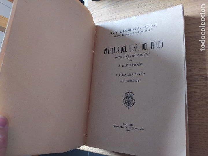 Libros antiguos: Retratos del museo del Prado, Junta de iconografia nacional, Imp. Cosano, 1919 - Foto 6 - 231125180