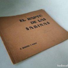 Libros antiguos: LA MITOLOGÍA Y LA TAPICERÍA. EL RAPTO DE LAS SABINAS. AÑO 1935. Lote 233446470