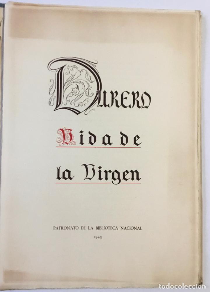 Libros antiguos: DURERO. VIDA DE LA VIRGEN. 0 lám. con grabados de Durero. Edición numerada. - Foto 2 - 233550255