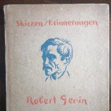 Libros antiguos: BOCETOS Y RECUERDOS DE - ROBERT GENIN . 1884-1941 - BERLIN 1920. ENVIO CERTIFICADO INCUIDO.. Lote 234036565