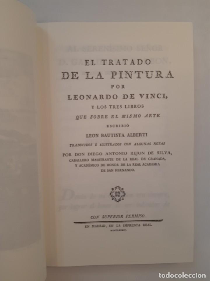 Libros antiguos: Precioso facsímil de la 1ª ed. en español del Tratado de la Pintura, de Leonardo da Vinci (1784) - Foto 2 - 250272505