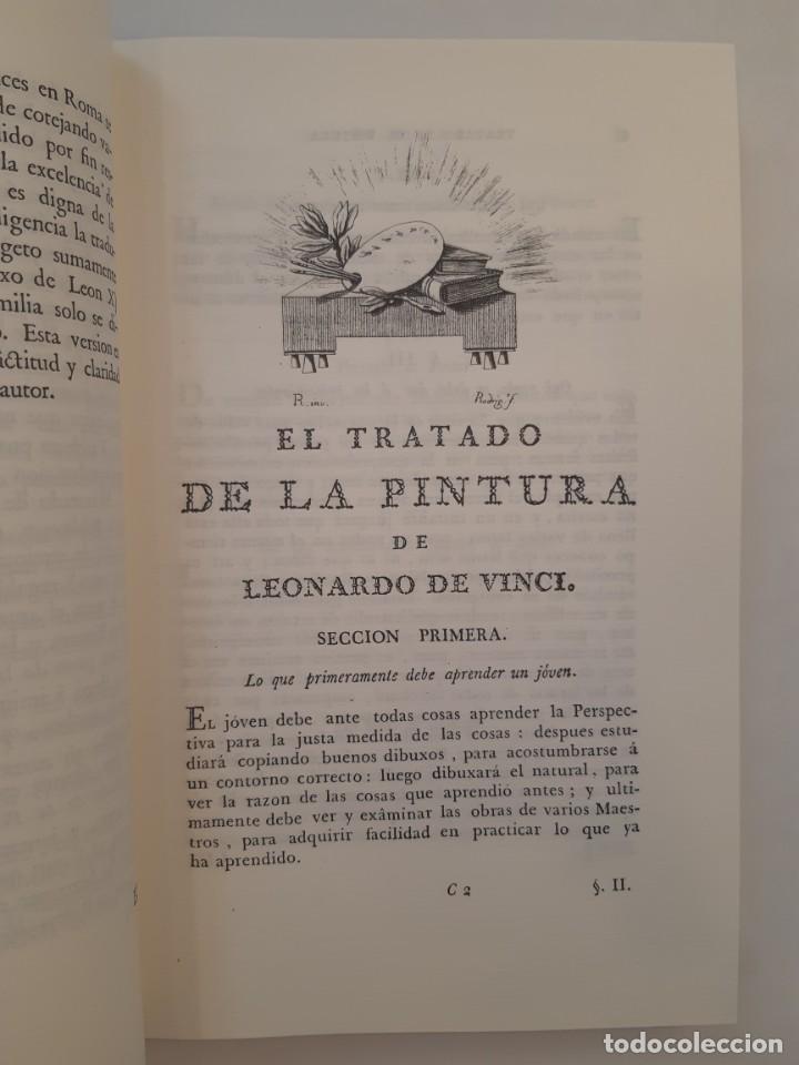 Libros antiguos: Precioso facsímil de la 1ª ed. en español del Tratado de la Pintura, de Leonardo da Vinci (1784) - Foto 3 - 250272505