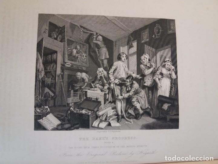 Libros antiguos: 2 FABULOSOS LIBROS LOS TRABAJOS DE WILLIAM HOGARTH MARAVILLOSA ENCUADERNACION GRABADOS 190 AÑOS - Foto 100 - 230632690