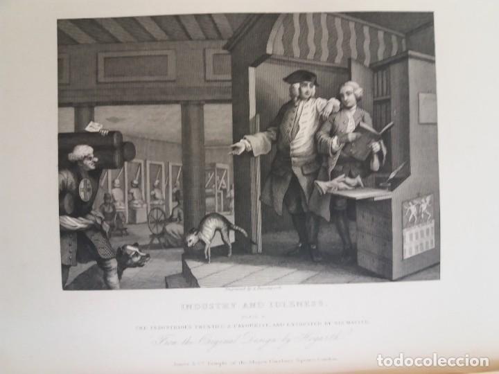 Libros antiguos: 2 FABULOSOS LIBROS LOS TRABAJOS DE WILLIAM HOGARTH MARAVILLOSA ENCUADERNACION GRABADOS 190 AÑOS - Foto 142 - 230632690