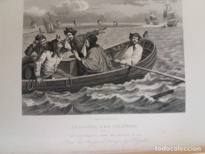 Libros antiguos: 2 FABULOSOS LIBROS LOS TRABAJOS DE WILLIAM HOGARTH MARAVILLOSA ENCUADERNACION GRABADOS 190 AÑOS - Foto 143 - 230632690