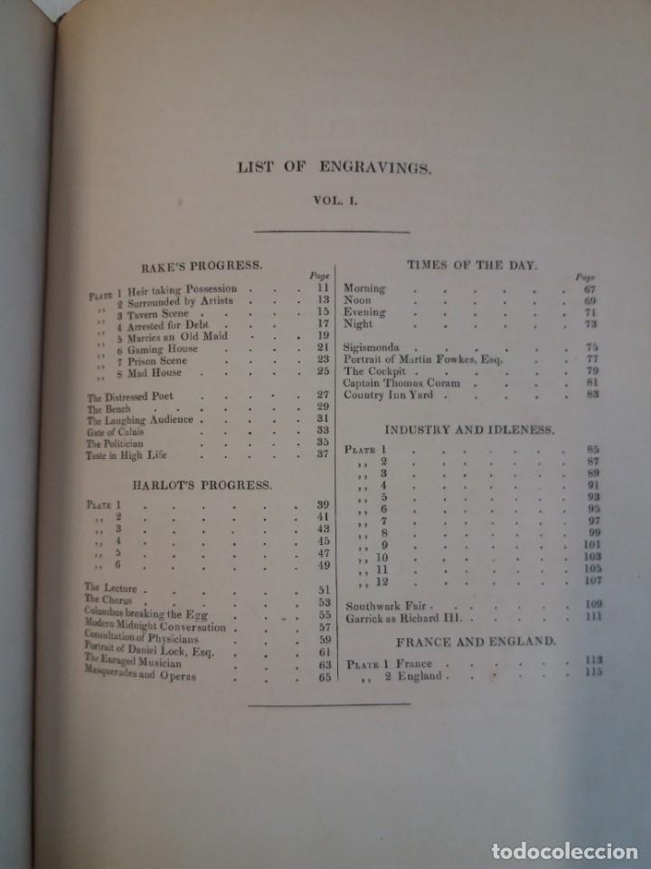 Libros antiguos: 2 FABULOSOS LIBROS LOS TRABAJOS DE WILLIAM HOGARTH MARAVILLOSA ENCUADERNACION GRABADOS 190 AÑOS - Foto 155 - 230632690