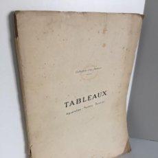 Libros antiguos: COLLECTION D´UN AMATEUR. TABLEAUX. AQUARELLES. CUADROS, ACUARELAS. BOUDIN. MAUFRA. PISSARRO. STYKA.. Lote 243529535