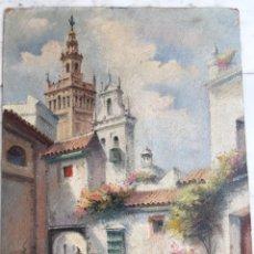 Libros antiguos: CUADRO ÓLEO SOBRE HALBOARD, J.PIMENTEL -SEVILLA. Lote 244599450
