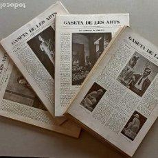 Libros antiguos: GASETA DE LES ARTS REVISTA DE ARTE PICASSO GARGALLO. Lote 247065980