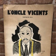 Old books: L'ONCLE VICENTS. J. PUIG PUJADES. DALÍ. Lote 247358780