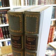 Libros antiguos: 1930 - DOMÍNGUEZ BORDONA - LA MINIATURA ESPAÑOLA. 2 TOMOS.. Lote 247385395