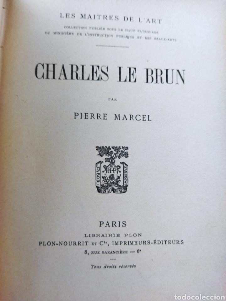 LES MAITRES DE L'ART .CHARLES LE BRUN.PIERRE MARCEL 1930 (Libros Antiguos, Raros y Curiosos - Bellas artes, ocio y coleccion - Pintura)