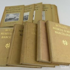 Libros antiguos: BUTLLETÍ MUSEUS D'ART DE BARCELONA. 5 VOL. + SUELTOS. AÑOS 1932-1937.. Lote 262691375