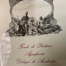 Libros antiguos: FONDO DE PINTURA, AGUAFUERTES, DIBUJOS DE ACADEMIA, DE LA REAL SOCIEDAD ECONÓMICA ARAGONESA. Lote 262943865