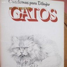 Libros antiguos: CUADERNOS PARA DIBUJAR GATOS - DAVID BROWN - 1ª EDC 1980. Lote 264970804