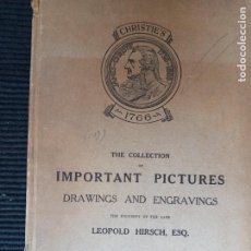 Libros antiguos: CHRISTIE'S. THE COLLECTION OF IMPORTANT PICTURES DRAWINGS AND ENGRAVINGS OF LEOPOLD HIRSCH, ESQ.1934. Lote 269404243