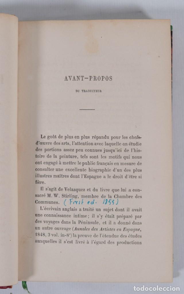 Libros antiguos: Velazquez et ses oeuvres - William Stirling - J.Renouard libraire 1865 - Foto 7 - 269748223