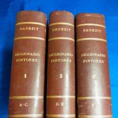 Libros antiguos: DICCIONARIO PINTORES BENEZIT COMPLETA 3 TOMOS - 1911. Lote 271054543