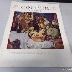 Libros antiguos: INTERESANTE REVISTA 1923 COLOUR MAGAZINE EN INGLES , ARTE PINTURA CUADROS BUEN ESTADO. Lote 272284008