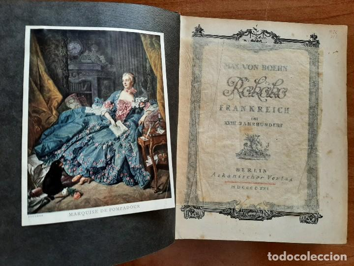 1921 ROKOKO FRANKREICH M XVIII JAHRHUNDERT - MAX VON BOEHN / ILUSTRADO - EN ALEMÁN (Libros Antiguos, Raros y Curiosos - Bellas artes, ocio y coleccion - Pintura)