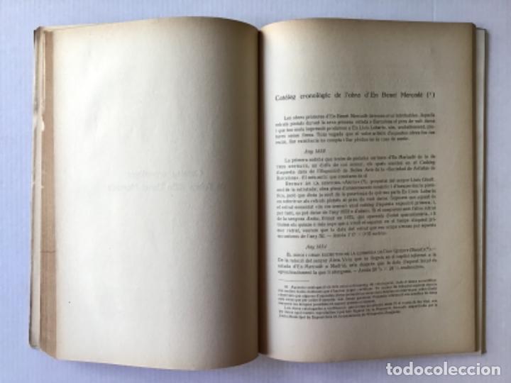 Libros antiguos: BENET MERCADÉ, LA SEVA VIDA I LA SEVA OBRA. - ELIAS, Feliu. - Foto 3 - 123184192