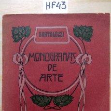 Libros antiguos: MONOGRAFÍAS DE ARTE UNIVERSAL. VOL. IV. BARTOLOZZI Y SUS DISCÍPULOS EN INGLATERRA. Lote 277266253