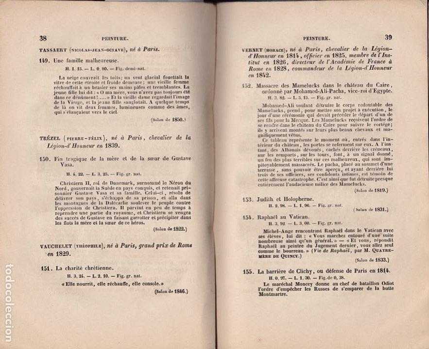 Libros antiguos: * CATÁLOGO MUSEO LUXEMBURGO * Notice des peintures, sculptures, gravures ... / Frédéric Villot- 1853 - Foto 4 - 277460513