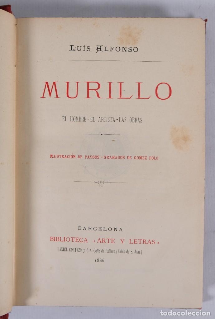 Libros antiguos: Murillo - Luis Alfonso - Biblioteca Arte y Letras 1886 - Foto 5 - 277517398