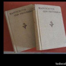 Libros antiguos: MANUSCRITOS CON PINTURAS. NOTAS PARA UN INVENTARIO DE LOS CONSERVADOS... J. DOMINGUEZ. T. I-II. Lote 278480168