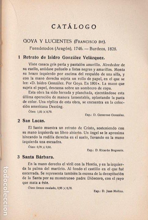 Libros antiguos: Antecedentes, coincidencias e influencias del arte de Goya: Exposición 1932: Catalogo-Guía - Foto 2 - 284330053