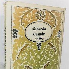 Libros antiguos: RICARDO CANALS. MONOGRAFIAS DE ARTE ... 1920. Lote 287928228