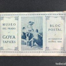 Libros antiguos: BLOC POSTAL DE LOS TAPICES DE GOYA - MUSEO DEL PRADO. Lote 297157528