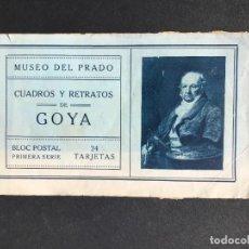 Libros antiguos: BLOC POSTAL - CUADROS Y RETRATOS DE GOYA - MUSEO DEL PRADO - POSTALES. Lote 297157623