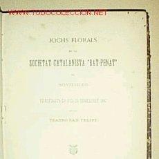 Libros antiguos: 1 VOL RELLIGAT AMB 3 OBRES POESIA CATALANA DE 1881, 1884 I 1888. Lote 26852870