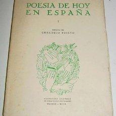 Libros antiguos: POESÍA DE HOY EN ESPAÑA (PRIMERA SERIE) - . Lote 26184803