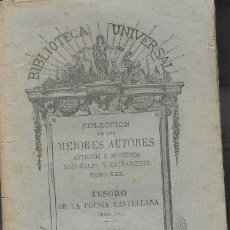 Libros antiguos: TESORO DE LA POESÍA CASTELLANA. SIGLO XV.. Lote 13833259