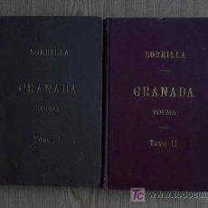 Libros antiguos: GRANADA. POEMA ORIENTAL PRECEDIDO DE LA LEYENDA DE AL-HAMAR. ZORRILLA (JOSÉ). Lote 18244466