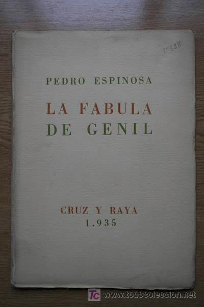 LA FÁBULA DE GENIL. ESPINOSA (PEDRO) (Libros antiguos (hasta 1936), raros y curiosos - Literatura - Poesía)