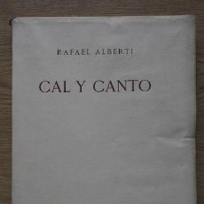 Libros antiguos: CAL Y CANTO. ALBERTI (RAFAEL). Lote 21508502