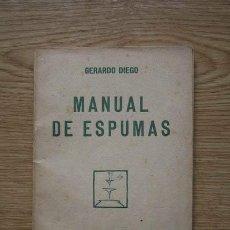 Libros antiguos: MANUAL DE ESPUMAS. DIEGO (GERARDO). Lote 21543986