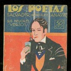Libros antiguos: LOS POETAS. SALVADOR GONZALEZ ANAYA. SUS MEJORES VERSOS. 1930.. Lote 17759083