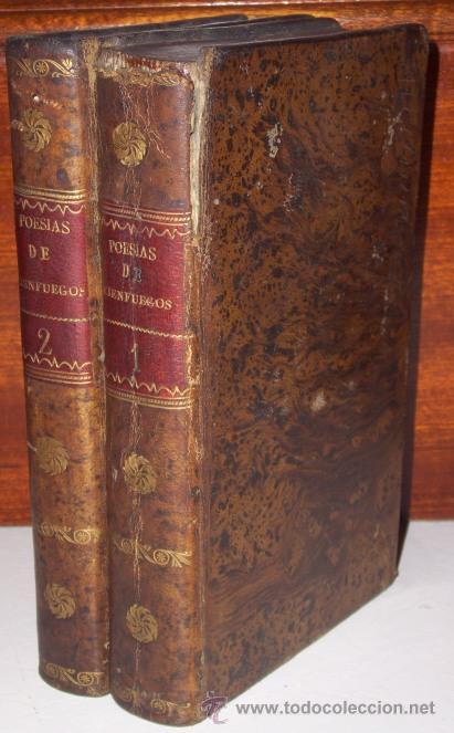 OBRAS POÉTICAS 2T POR NICASIO ALVAREZ DE CIENFUEGOS DE IMPRENTA REAL EN MADRID 1816 (Libros antiguos (hasta 1936), raros y curiosos - Literatura - Poesía)