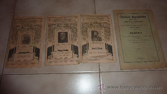 3 LIBROS EN CATALÀ DE LA LECTURA POPULAR. BIBLIOTECA D'AUTORS CATALANS. POESIES, TEATRO. PP S.XX (Libros antiguos (hasta 1936), raros y curiosos - Literatura - Poesía)