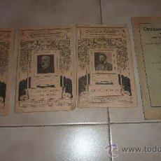 Libros antiguos: 3 LIBROS EN CATALÀ DE LA LECTURA POPULAR. BIBLIOTECA D'AUTORS CATALANS. POESIES, TEATRO. PP S.XX. Lote 23837900