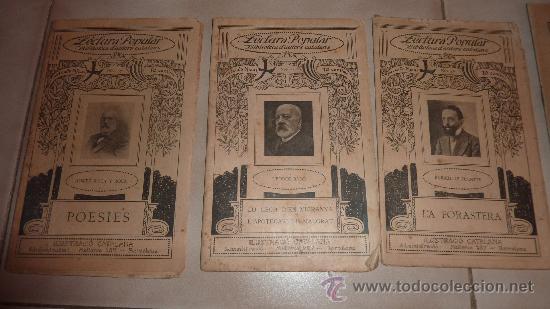 Libros antiguos: 3 libros en català de la Lectura Popular. Biblioteca dautors catalans. Poesies, teatro. pp s.XX - Foto 2 - 23837900