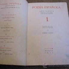 Libros antiguos: POESÍA ESPAÑOLA. ANTOLOGÍA. POESÍA DE LA EDAD MEDIA Y POESÍA DE TIPO TRADICIONAL-ALONSO DAMASO 1935. Lote 27531456