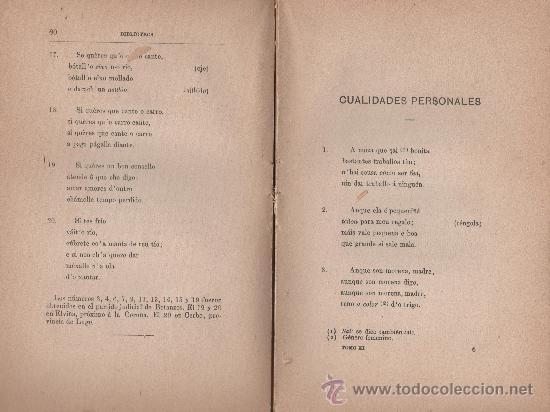 Libros antiguos: CANCIONERO POPULAR GALLEGO, y en particular de la provincia de La Coruña - FOLKLORE ESPAÑOL 1886 - Foto 6 - 24592231